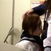 【盗撮レイプ動画】無賃乗車した生意気JKを脅迫3P強姦!最後はお仕置き中出し!!