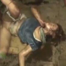 【ガチレイプ動画】汚い倉庫で同僚に激しく輪姦され中出しされる女性の末路は・・・※閲覧注意