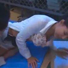【OLレイプ動画】会社で働いてるハーフ系の美女を会社の倉庫で無理やり強姦する変態従業員!