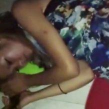 【無修正レイプ動画】睡眠薬で眠らせた金髪ギャルを強姦しながらガチハメ撮り!