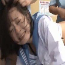 【JKレイプ動画】万引きした女子校生を事務所に監禁し号泣しようが強姦しまくる!