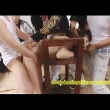 【集団レイプ】一人旅中の女子大生が田舎DQNに拉致拘束されアナル責めで強姦!