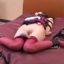 【SM レイプ動画】全身拘束した美女に電マでイキ地獄を味あわせる凌辱プレイ!