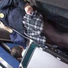 通学中にバスの中で痴漢に襲われるJKが抵抗もできずに強姦されてしまう…