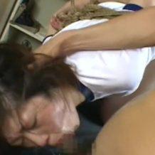 【JKレイプ動画】体操服姿の中〇生少女を緊縛凌辱!汚いチンポ2本で串刺し輪姦…