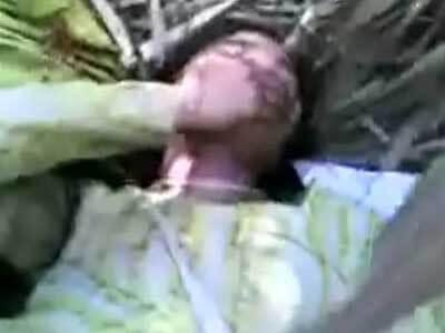 【無修正】抵抗もできず性奴隷として扱われている女性を個人撮影した本物レイプ動画