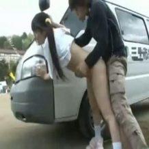 【jk レイプ】体操服姿の女子校生を車で拉致って野外凌辱!無垢なマンコを凶悪チンポで滅茶苦茶に犯す…