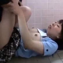 トイレで襲われたJCが容赦無く犯されてぶっかけ陵辱される…